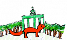 Fuchs vor dem Brandenburger Tor