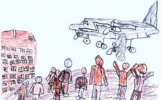 Die Berliner Luftbrücke - Zeichnung