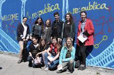Die Bösen Wölfe vor der Internetkonferenz re:publica