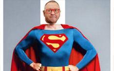 Jerzy Owsiak jako Superman