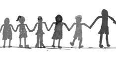 Menschenkette als Zeichen der Solidarität