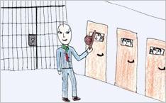Dans un établissement pénitentiaire pour mineurs