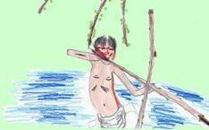Indien d'Amazonie en train de chasser