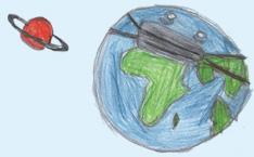 Planet Erde mit Maske