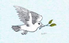 Fliegende Friedenstaube