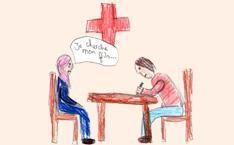 Geflüchtete Frau sucht ihr Kind mit Hilfe des Roten Kreuzes