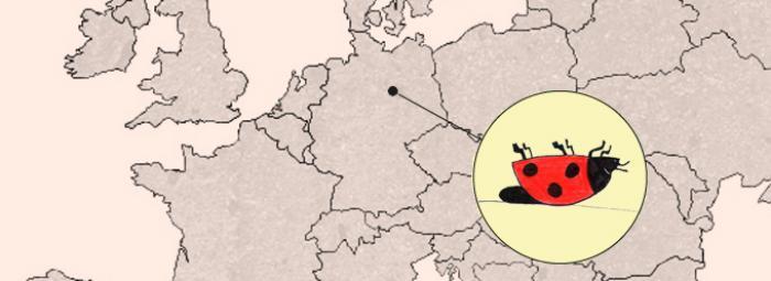 Europakarte mit Logo der Telefonseelsorge