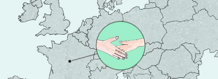 Carte de l'Europe avec Selles-sur-Cher