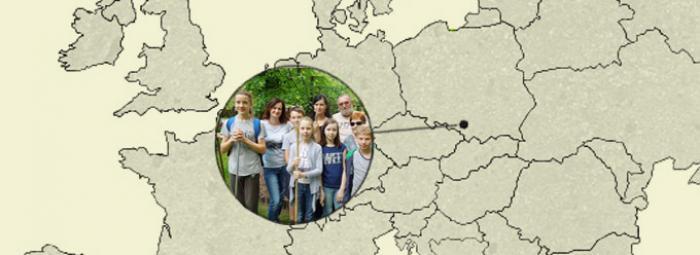 Europakarte mit Leszczyny im Südpolen