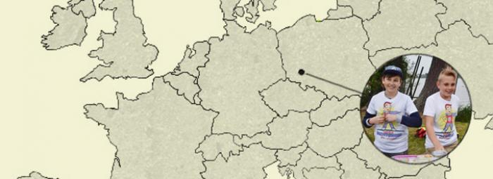 Europakarte mit Legnica im Südpolen