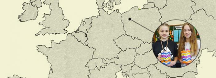 Carte de l'Europe avec Pila à l'ouest de la Pologne