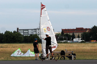 Windsurfing on the Tempelhofer Feld
