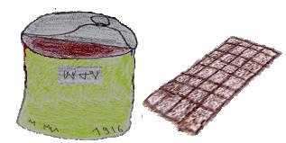 Konserwy i czekolada