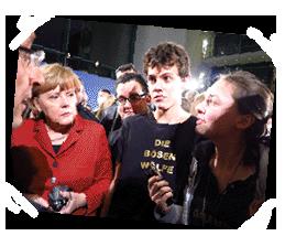 Unsere Begegnung mit Angela Merkel und  François Hollande