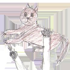 Ich hatte eine Katze zum Krallen schneiden